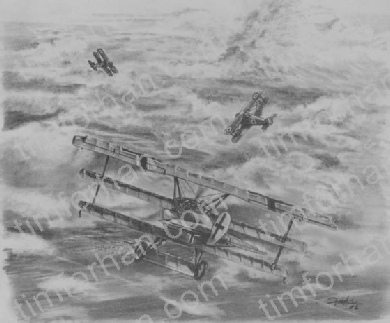 AC-002 Red Baron airplane aircraft pencil drawing