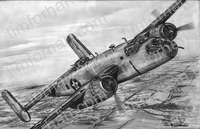 b25-c-doolittle-aircraft-airplane-pencil-drawing-ac012