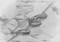 p38-cloud-runner-aircraft-airplane-pencil-drawing-ac016