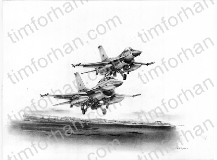 AC-008 P51 Final Salute airplane aircraft pencil drawing