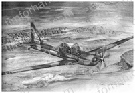 y03a-morning-star-aircraft-airplane-pencil-drawing-ac027