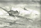 p-40-warhawk-low-pass-aircraft-airplane-pencil-drawing-ac041