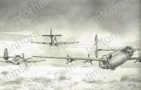 b-24-red-tail-escort-east-aircraft-airplane-pencil-drawing-ac043
