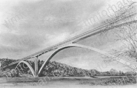 natchez-traces-bridge-bridges-pencil-drawing-b001
