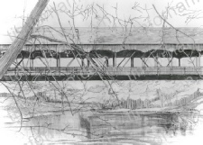 covered-mohican-state-park-ohio-bridges-pencil-drawing-b003
