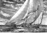 new-years-sail-sailboat-in-ocean-miscellaneous-prints-wall-art-pencil-drawing-m009