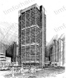 high-rise-structure-prints-wall-art-pencil-drawing-s004