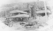 falling-water-frank-lloyd-wright-structure-prints-wall-art-pencil-drawing-s011