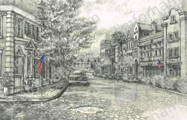 cobbler-street-american-flag-structure-prints-wall-art-pencil-drawing-s016