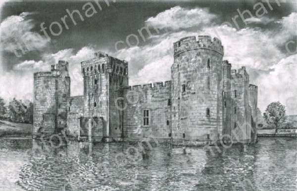 bodiam-castle-great-britain-structure-prints-wall-art-pencil-drawing-s019
