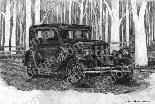 pierce-arrow-1931-transportation-prints-wall-art-pencil-drawing-t004