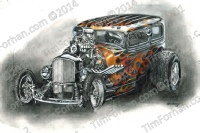 32-ford-coupe-muscle-car-transportation-prints-wall-art-colored-pencil-drawing-t013