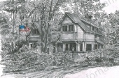 woods-patriotic-house-us-flag-prints-wall-art-pencil-drawing-us003