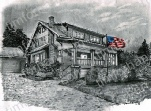 lights-patriotic-house-us-flag-prints-wall-art-pencil-drawing-us004