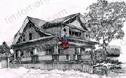 pickett-fence-patriotic-house-us-flag-prints-wall-art-pencil-drawing-us005