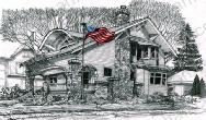 dormer-patriotic-house-us-flag-prints-wall-art-pencil-drawing-us007