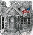bad-brick-patriotic-house-us-flag-prints-wall-art-pencil-drawing-us008