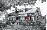 shed-roof-patriotic-house-us-flag-prints-wall-art-pencil-drawing-us010